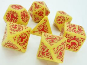 Pathfinder Legacy of Fire Yellow Dice Set